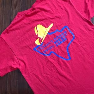 v t g | red LONESTAR SALOON Texas T-shirt
